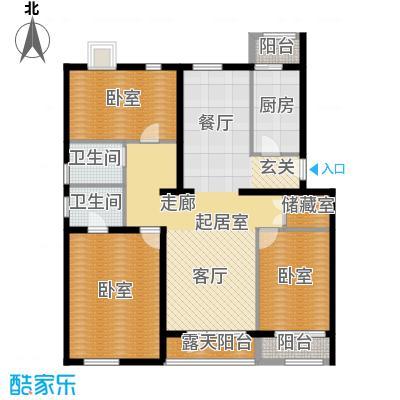 阿尔法社区135.00㎡二期花园洋房西4、5层户型10室