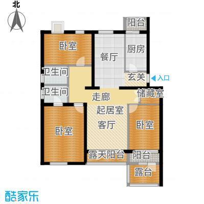 阿尔法社区135.00㎡二期花园洋房西2层户型10室