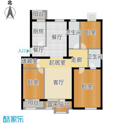阿尔法社区135.00㎡二期花园洋房东3层户型10室