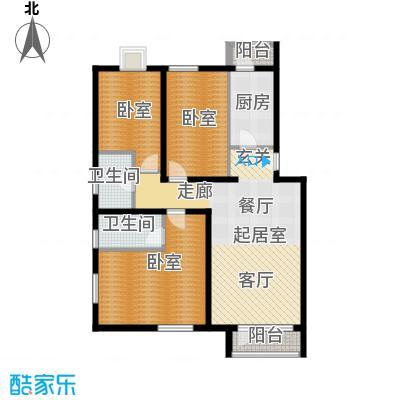 阿尔法社区121.00㎡二期3-3五层户型10室
