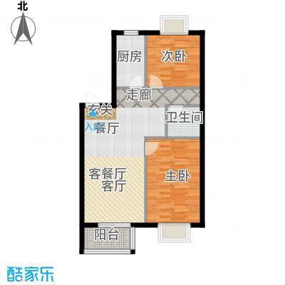 古韵新居3、4号楼B2户型2室1厅1卫1厨