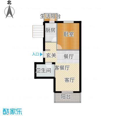 翠福园(翠福星城)66.75㎡33号楼b户型10室