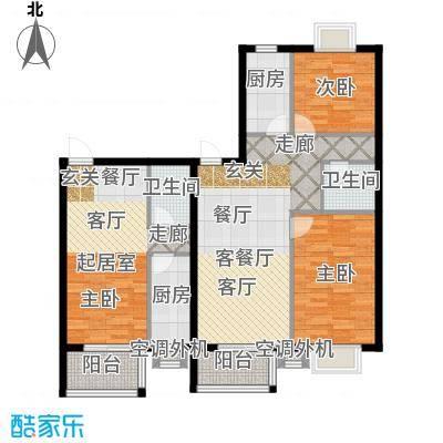 古韵新居3、4号楼A1一居室、B2户型2室1厅2卫2厨