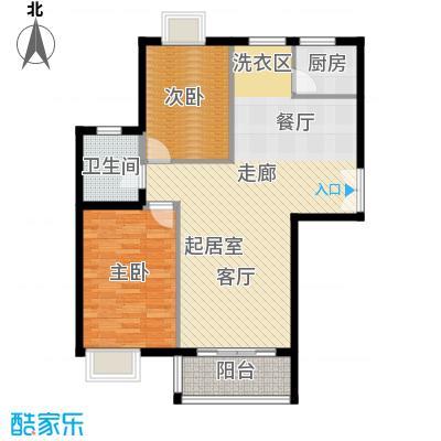 世纪星城・全朝阳103.00㎡三期22号楼B段23号楼A段(A)户型2室2厅1卫