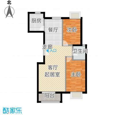 世纪星城・全朝阳101.00㎡22#楼A段户型2室2厅1卫
