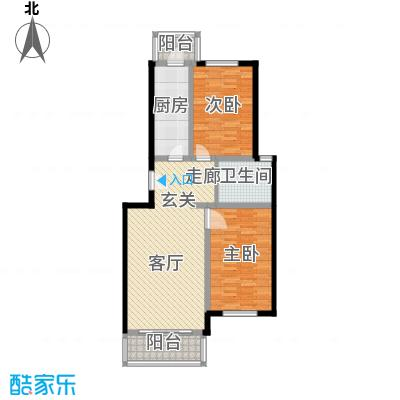 祥和乐园90.56㎡两室一厅一卫户型