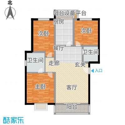 祥和乐园128.51㎡三室两厅两卫户型