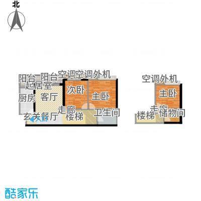 天景美梦城真53.76㎡房型: 二房; 面积段: 53.76 -73.72 平方米;户型
