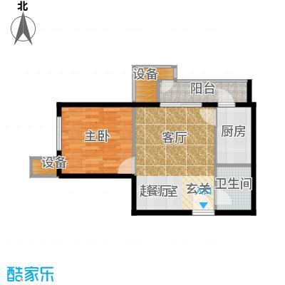 葵花社58.64㎡A户型一室二厅一卫户型