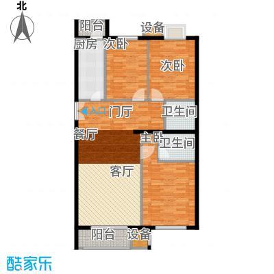 葵花社115.69㎡G户型三室二厅二卫户型