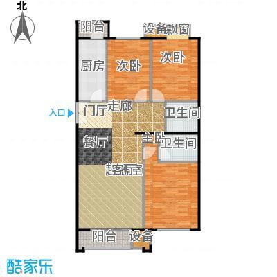 葵花社115.69㎡G户型三室两厅两卫户型