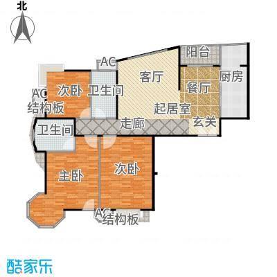 瑞都公园世家145.64㎡CC户型三室两厅户型