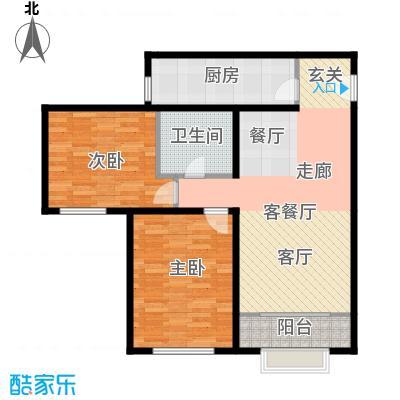 雍景山岚90.15㎡B户型2室1厅1卫1厨