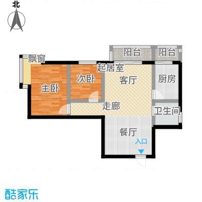 摩卡空间2室-2厅-1卫-1厨户型