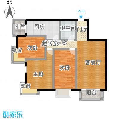 摩卡空间3室-2厅-1卫-1厨户型