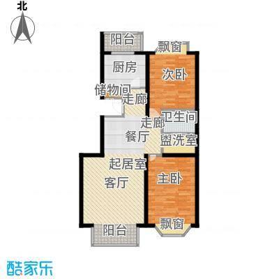 宏鑫家园95.98㎡二室二厅一卫户型