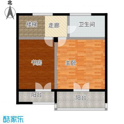 西现代城41.09㎡一室一厅户型LL