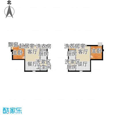 摩卡空间57.14㎡一室一厅一卫户型