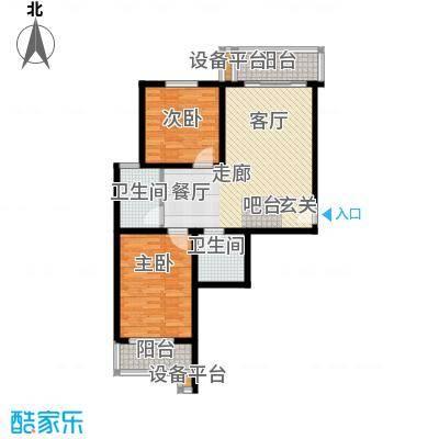 达富雅园89.14㎡二室一厅户型