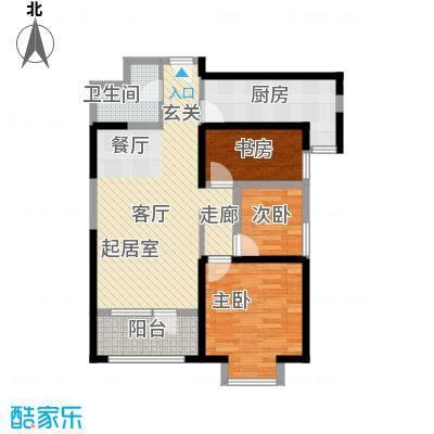 华业东方玫瑰90.00㎡A5-1-03户型3室1卫1厨