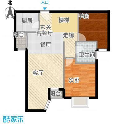 珠江拉维小镇香醍名苑上跃层户型2室1厅1卫1厨