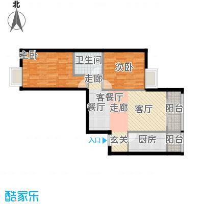 珠江拉维小镇89.00㎡D1户型10室