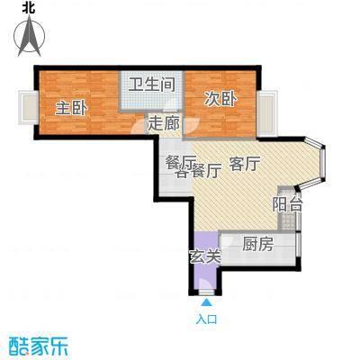 珠江拉维小镇B3户型2室1厅1卫1厨