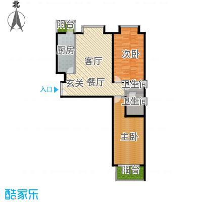 蓝山国际109.73㎡G户型二室二厅户型