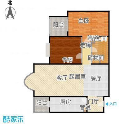 京贸国际公寓114.64㎡两室两厅一卫户型