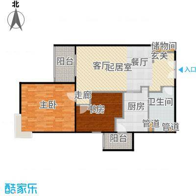 京贸国际公寓96.28㎡两室两厅一卫户型