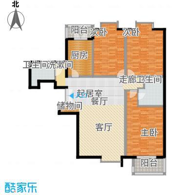 蓝山国际151.51㎡A户型三室二厅户型