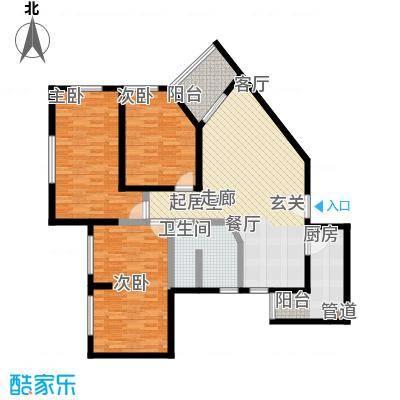 东阁雅舍119.77㎡三室两厅一卫户型