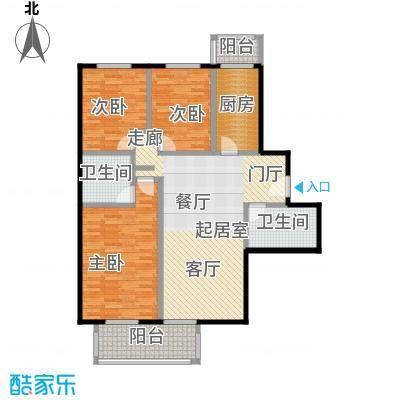 水岸长桥(长安星园)117.77㎡三室二厅二卫户型