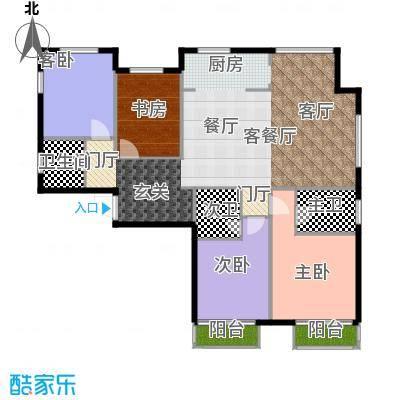 K2・玉�湾160.00㎡8号楼D1户型4室1厅1卫