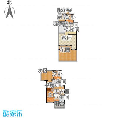 中房水木兰亭176.86㎡四室两厅三卫户型