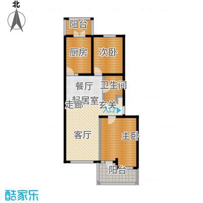 中房水木兰亭96.04㎡2室-2厅-1卫-1厨户型