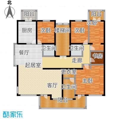 中房水木兰亭208.65㎡4室-2厅-3卫-1厨户型