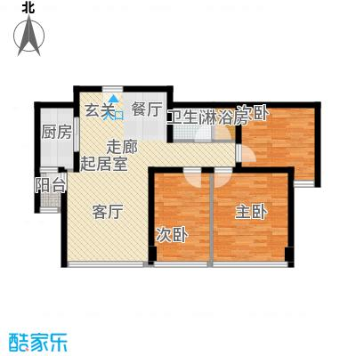 合生・滨江帝景99.00㎡二期F户型3室1卫1厨