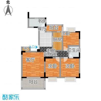 美堤雅城(一期)98.97㎡房型: 三房; 面积段: 98.97 -117.41 平方米;户型
