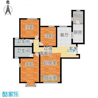融科・钧廷160.00㎡3C户型3室2厅2卫
