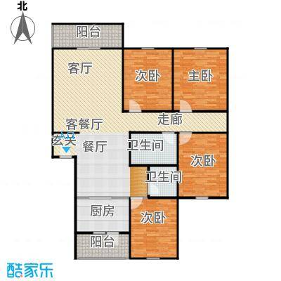 千禧家园155.74㎡A户型10室