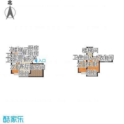 红杉一品・和廷A2'跃层户型4室1厅4卫2厨