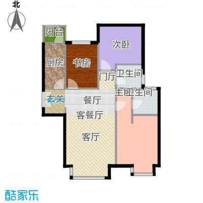 红杉一品111.98㎡8#B1户型3室1厅2卫1厨