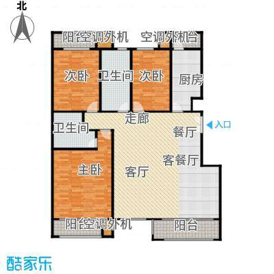 阿凯笛亚别苑C三室两厅两卫户型