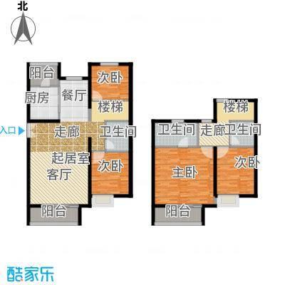 红杉一品・和廷224.40㎡A3跃层户型4室2厅2卫