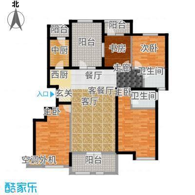 龙湖・香醍溪岸160.00㎡览景雅居户型3室2厅2卫