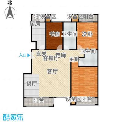 阿凯笛亚别苑D三室两厅两卫户型