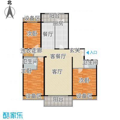 博雅世家177.01㎡三室两厅两卫户型