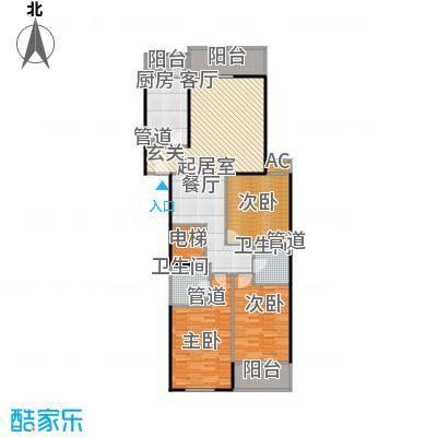 兴顺宝典126.22㎡三室两厅两卫户型