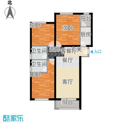 龙湖・香醍溪岸100.65㎡花园洋房户型10室